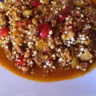Paella de trigo sarraceno y verduras