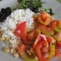 Ensalada con garbanzos y tomate