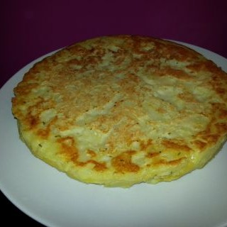Tortilla de patatas sin huevo ligera