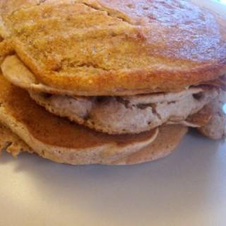 Pancakes con leche vegetal