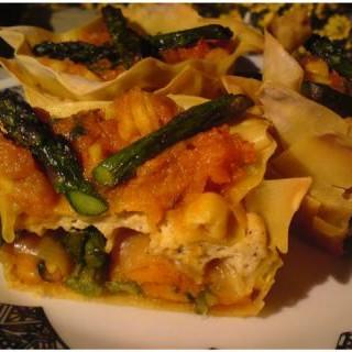 Flores de calabaza y tofu ahumado
