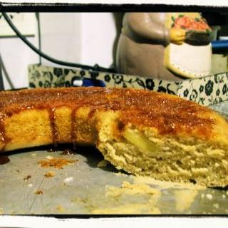Torta de manzana y caramelo