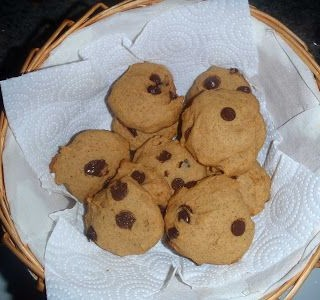 galletas de boniato con chocolate
