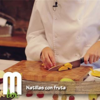 Natillas con fruta